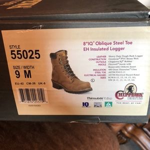 Chippewa Men's Boots Steel Toe with Insulation